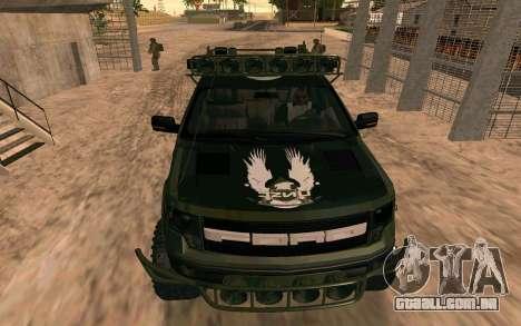 Ford F150 Raptor Unique Edition para GTA San Andreas vista direita