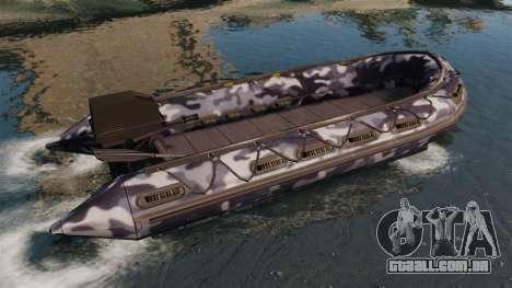 US Navy SEAL Zodiac para GTA 4 esquerda vista