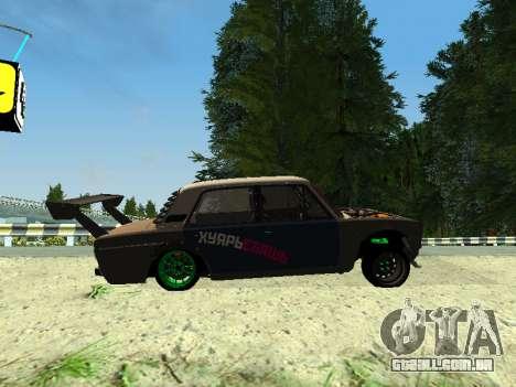 VAZ 2106 para GTA San Andreas traseira esquerda vista