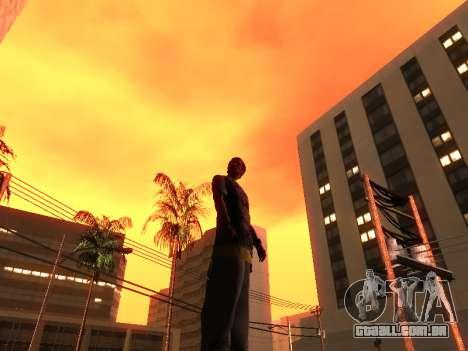 Pele Tracer para GTA San Andreas por diante tela
