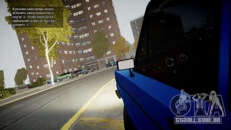 VAZ 2106 Baku para GTA 4 vista interior