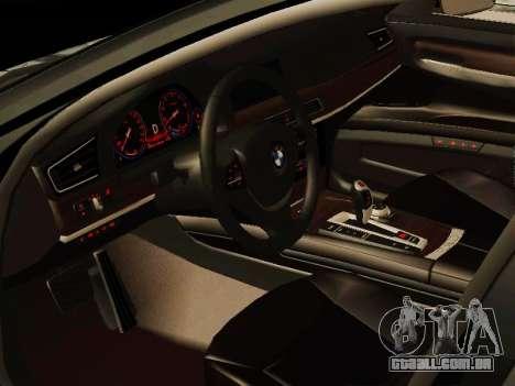 BMW 730Li para GTA San Andreas traseira esquerda vista