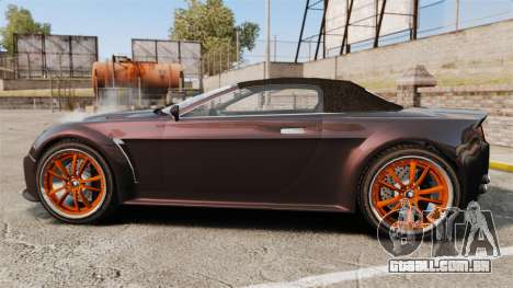 GTA V Dewbauchee Rapid GT para GTA 4 esquerda vista