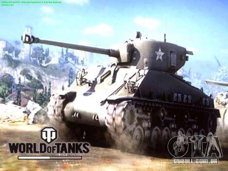 Tela de inicialização do World of Tanks para GTA San Andreas segunda tela