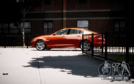 Jaguar XF-R 2012 v1.1 para GTA 4 esquerda vista