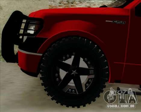 Ford F-150 para GTA San Andreas vista interior