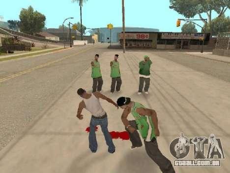 Vá para a gangue dos Ballas para GTA San Andreas segunda tela