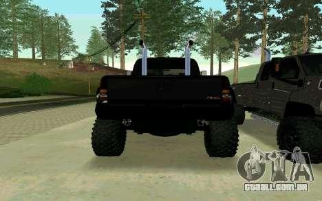 GMC Topkick para GTA San Andreas esquerda vista