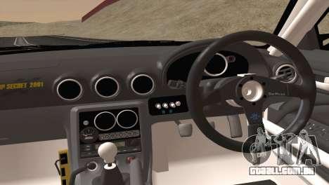 Nissan Silvia S15 TopSecret para GTA San Andreas vista interior