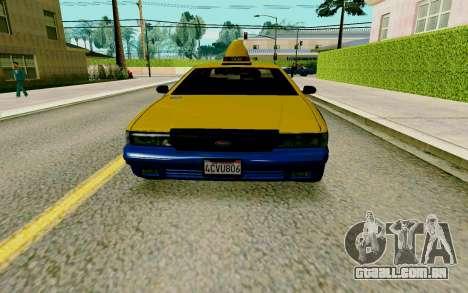GTA V Taxi para GTA San Andreas esquerda vista