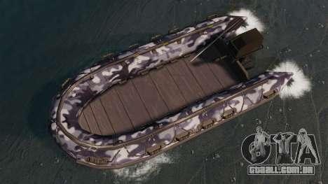 US Navy SEAL Zodiac para GTA 4 vista direita