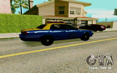 GTA V Taxi para GTA San Andreas traseira esquerda vista
