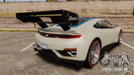 GTA V Dinka Jester para GTA 4 traseira esquerda vista