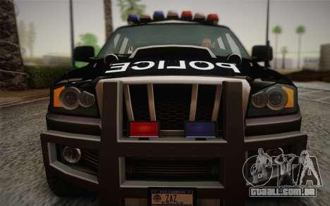 NFS Suv Rhino Heavy - Police car 2004 para GTA San Andreas vista traseira