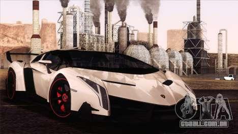 Lamborghini Veneno Roadster LP750-4 2014 para GTA San Andreas vista traseira