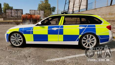 BMW 330d Touring (F31) 2014 Police [ELS] para GTA 4 esquerda vista