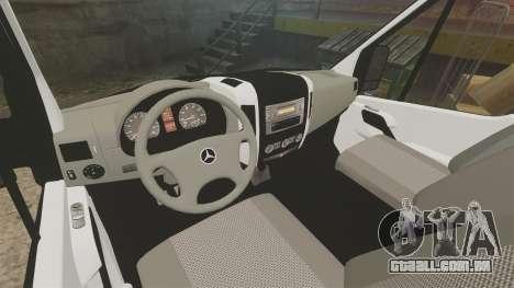 Mercedes-Benz Sprinter 211 CDI Police [ELS] para GTA 4 vista de volta