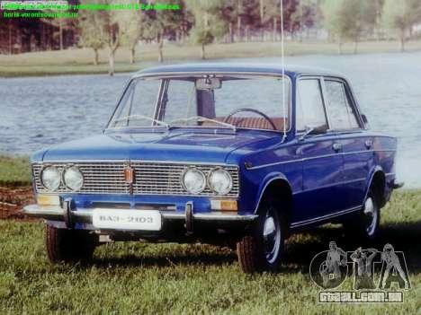 Arranque telas Soviética Carros para GTA San Andreas