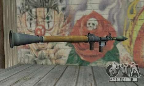 RPG para GTA San Andreas segunda tela