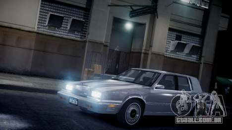 Chrysler New Yorker 1988 para GTA 4 vista lateral
