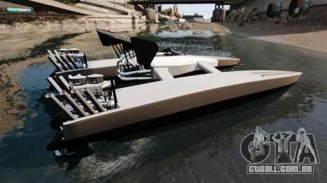Dragboat Twin V8 para GTA 4 esquerda vista