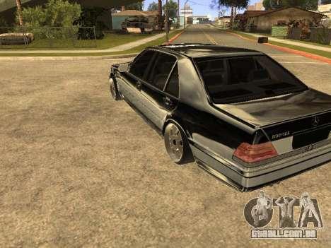 Mercedes-Benz 600SEL para GTA San Andreas vista direita
