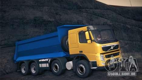 Volvo FM12 8X4 Dumper para GTA San Andreas esquerda vista