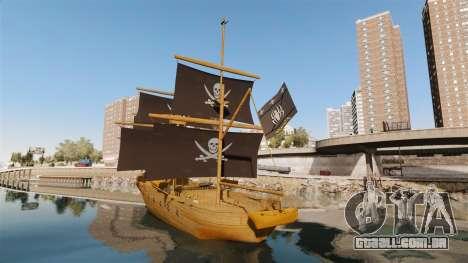 Navio pirata para GTA 4 traseira esquerda vista