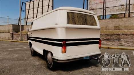 Volkswagen Transpoter 2 1975 para GTA 4 traseira esquerda vista