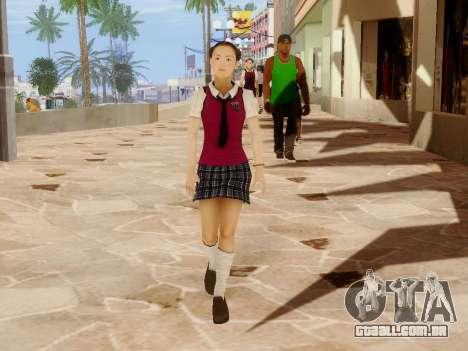 Hanako para GTA San Andreas nono tela