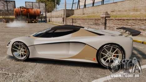 GTA V Grotti Turismo R para GTA 4 esquerda vista