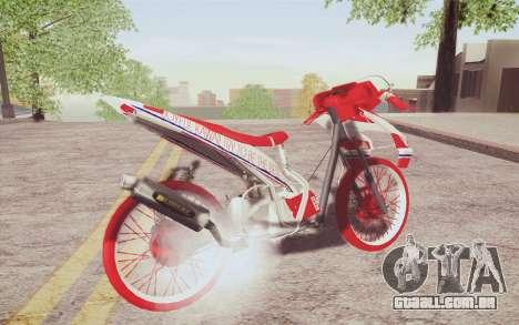 Vario Drag version JKT48 para GTA San Andreas traseira esquerda vista