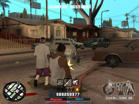Cleo Hud Cameron Rosewood para GTA San Andreas terceira tela