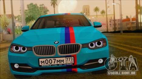 BMW 328d 2014 para GTA San Andreas vista direita