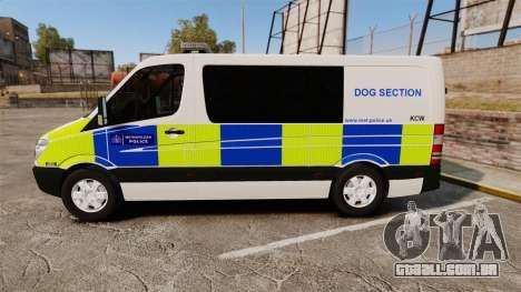 Mercedes-Benz Sprinter 211 CDI Police [ELS] para GTA 4 esquerda vista