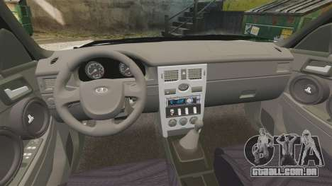 VAZ-2170 Lada Priora Luks para GTA 4 vista interior