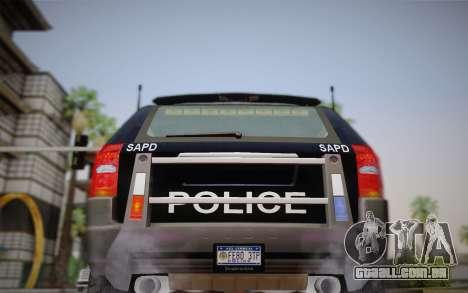 NFS Suv Rhino Heavy - Police car 2004 para GTA San Andreas vista interior
