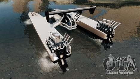 Dragboat Twin V8 para GTA 4 traseira esquerda vista