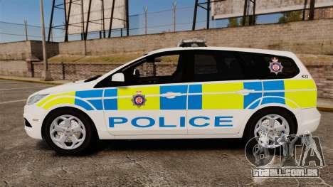 Ford Focus Estate British Police [ELS] para GTA 4 esquerda vista