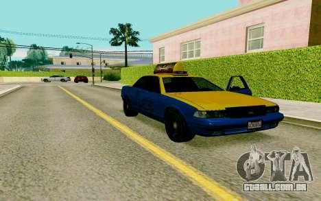 GTA V Taxi para GTA San Andreas vista direita