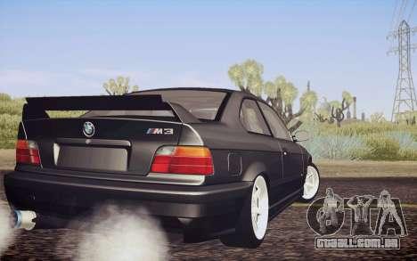 BMW M3 E36 Angle Killer para GTA San Andreas esquerda vista