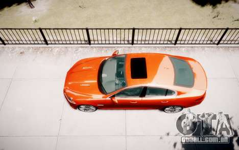 Jaguar XF-R 2012 v1.1 para GTA 4 vista lateral