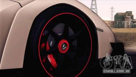 Lamborghini Veneno Roadster LP750-4 2014 para GTA San Andreas vista superior