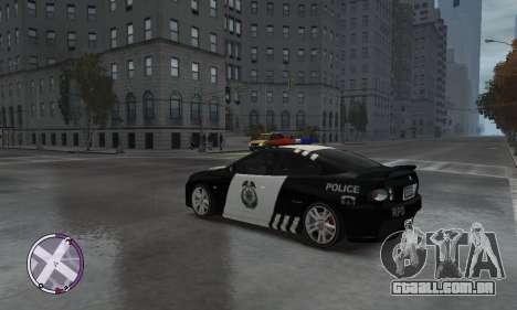 Holden Monaro CV8-R Police para GTA 4 traseira esquerda vista