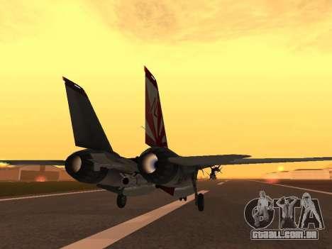 F-14 LQ para GTA San Andreas vista direita