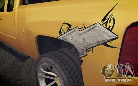 Chevrolet Silverado 2500 LTZ para GTA San Andreas vista traseira