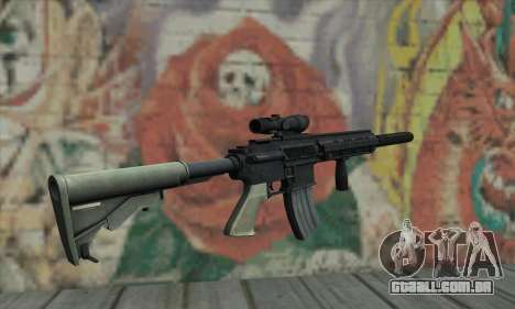 M416 with ACOG sight and silenced para GTA San Andreas segunda tela