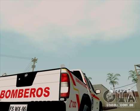 Nissan Terrano para GTA San Andreas vista superior