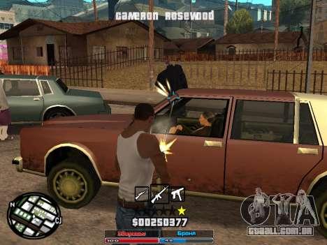 Cleo Hud Cameron Rosewood para GTA San Andreas segunda tela