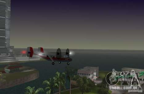 O an-28 para GTA Vice City vista traseira esquerda